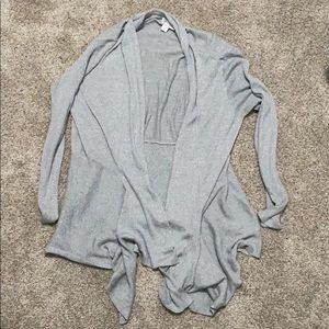Gray sparkle women's cardigan